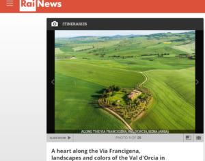 موقع Rai يدرج صورة الادعاء قرية با محمد وهي بالأصل تعود إلى إيطاليا فتبينوا