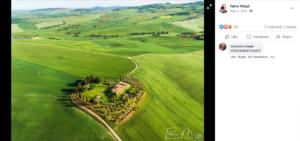 صورة الادعاء تعود إلى منطقة توسكانا في إيطاليا للمصور Fabio Muzzi وليس إلى قرية با محمد فتبينوا