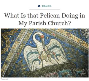 البجعة تجرح نفسها لتطعم صغارها رسم في الكنيسة فتبينوا