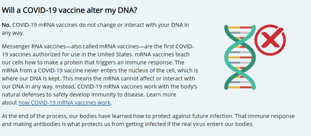 فيديو تحذير من لقاح كورونا وتغييره للشفرات الوراثية_ زائف