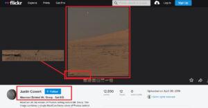صورة لجبل شارب وقمر فابوس من كوكب المريخ فتبينوا