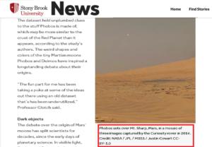 Martian Moon Sprang from Impact on Home Planet SBU News فتبينوا
