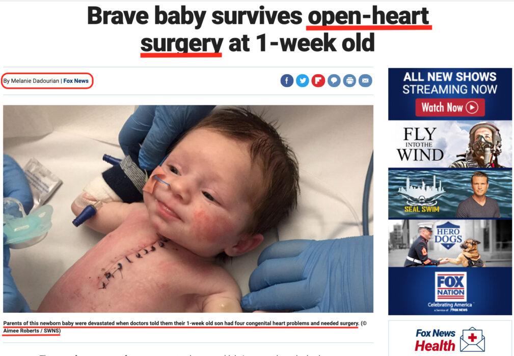 هذا الطفل ولد عام 2017 في إنجلترا ولم تجر له عملية زرع القلب