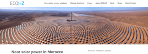 Noor solar power in Morocco - ECOHZ فتبينوا