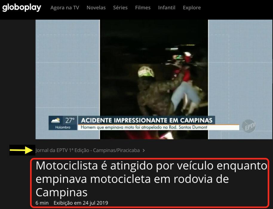 حادث سير وقع في مدينة كامبيناس في البرازيل وليس البصرة العراقية