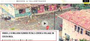 الزهور تغطي قرية في كوستاريكا من أجل إعلان شركة Sony فتبينوا
