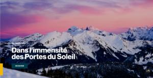 جبال منطقة Les gets في فرنسا فتبينوا