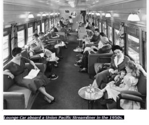 قطار في أمريكا في خمسينات القرن الماضي فتبينوا