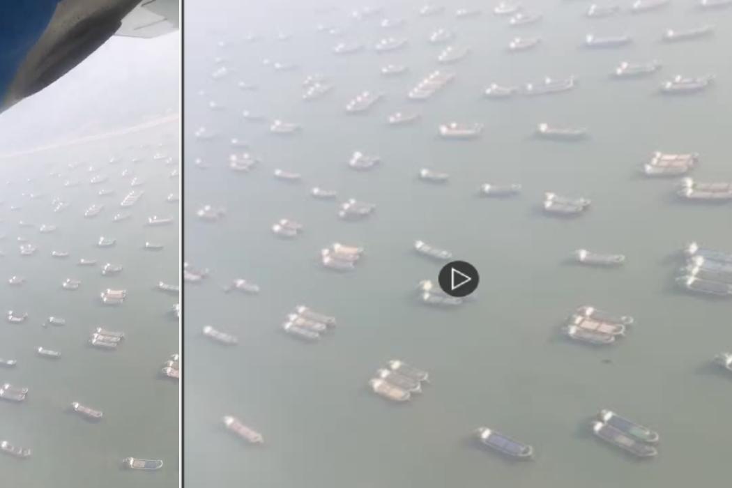 سفن في بنغلاديش وليس السويس