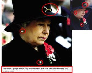 الملكة اليزابيث تبكي في يوم الذكرى فتبينوا
