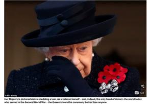 الملكة اليزابيث تبكي عام 2019 فتبينوا