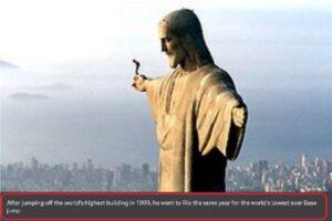 قفز المظلي النمساوي من تمثال المسيح BBC فتبينوا