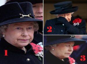 صور ادعاء الملكة اليزابيث وهي تبكي