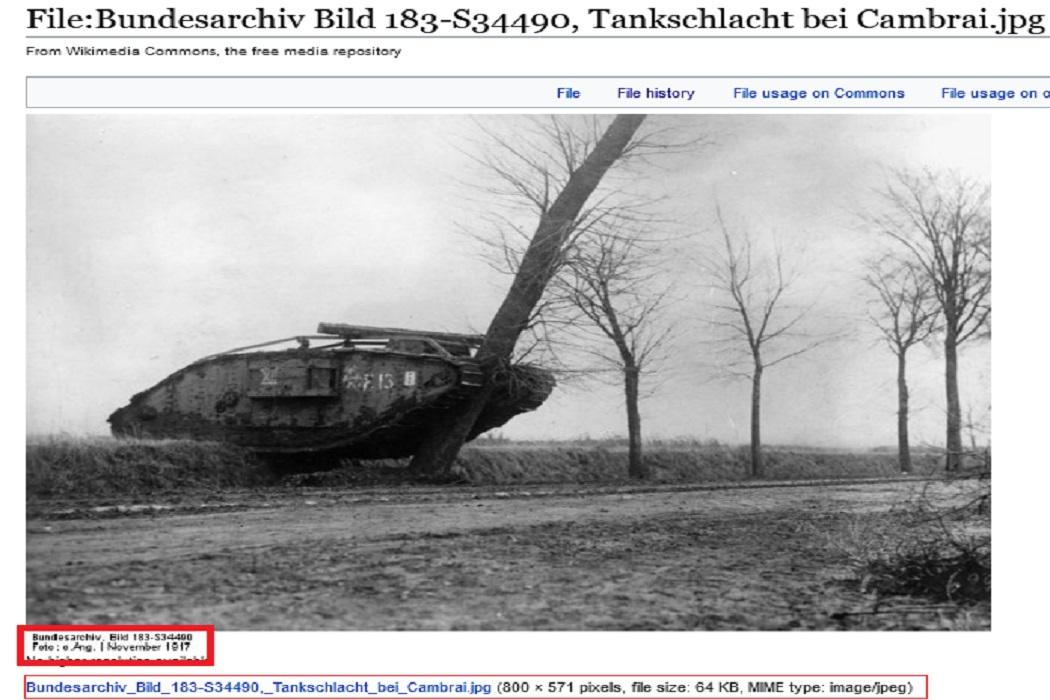 الدبابة البريطانية 1917 فتبينوا