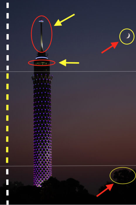برج القاهرة مضاء بعلم دولة فلسطين