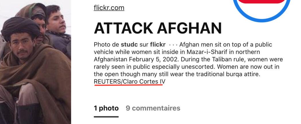 الصورة التقطت في أفغانستان من قبل الفوتوغرافي كلارو كورتيس