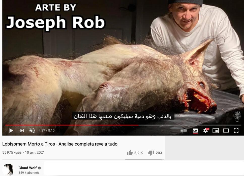 مجسم فني روب كوبسكي Rob Cobasky وليس ذئبا بشريا