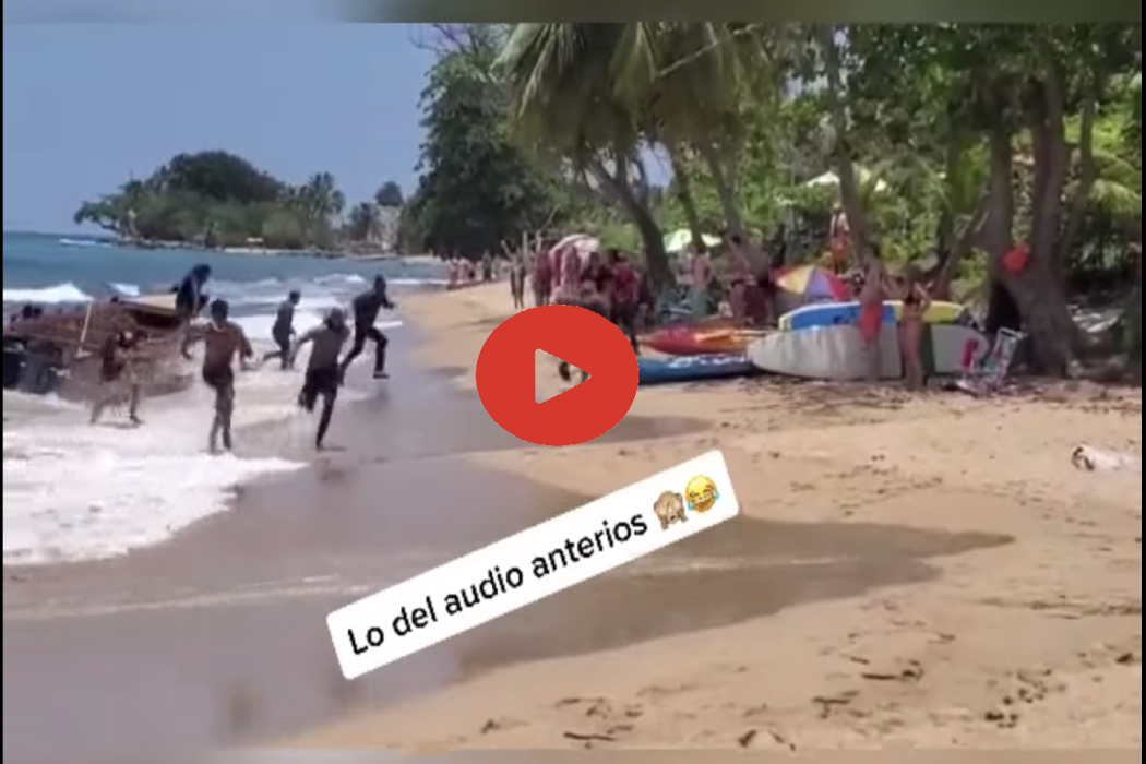 المقطع يظهر مهاجرين من الدومينيكان وصلوا شواطئ بورتوريكو