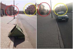 مقارنة بين صورة الادعاء وصورة شارع حي أيت كظيف والتشابه التام بينهما فتبينوا