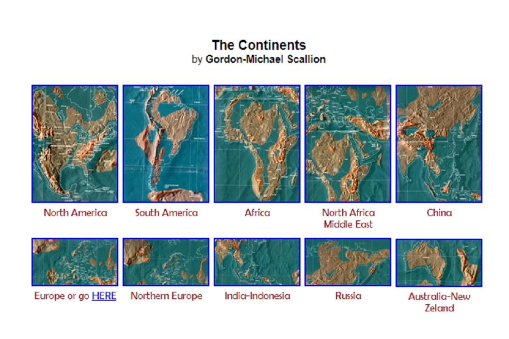 الخريطة التي رسمها سكاليون للعالم عام 2012 وليس 2050 فتبينوا