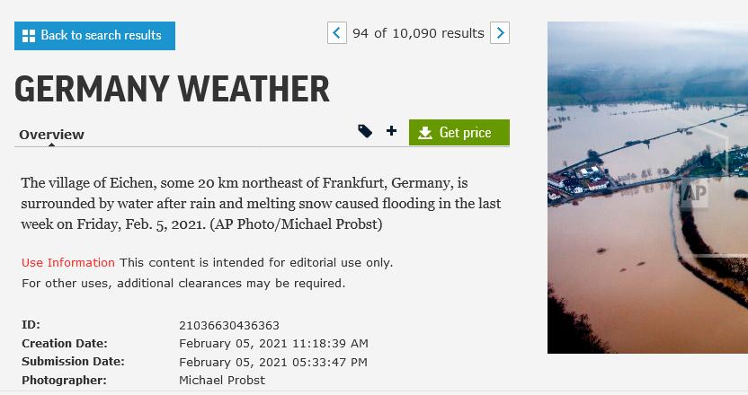 صورة الفيضانات في ألمانيا في فبراير الماضي وليس هولندا فتبينوا