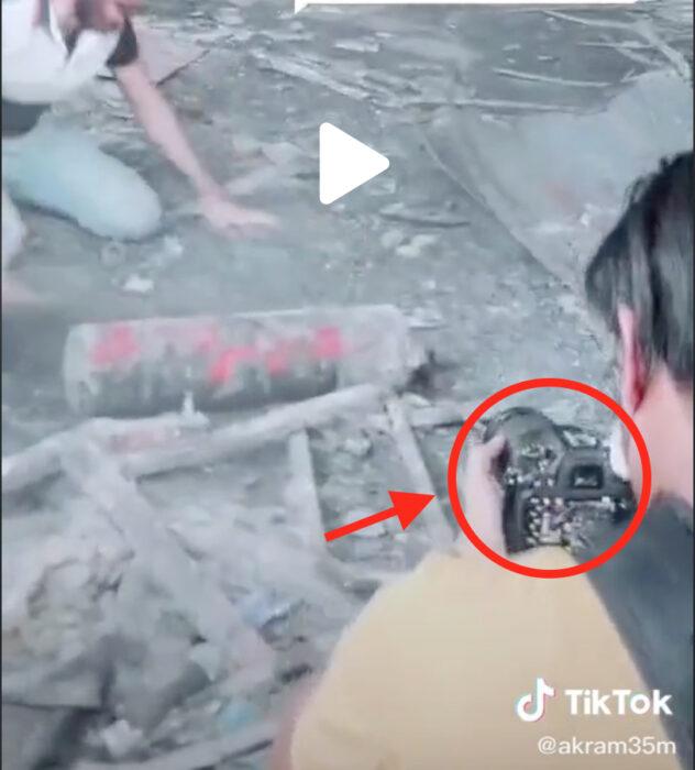 هذا المقطع ليس حقيقيا بل تمثيلي صور في موقع حريق مستشفى الحسين التعليمي