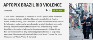 مدهمة الشرطة البرازيلية لأحد الأحياء في البرازيل ولا تعود إلى فيڨو ماتريانو فتبينوا