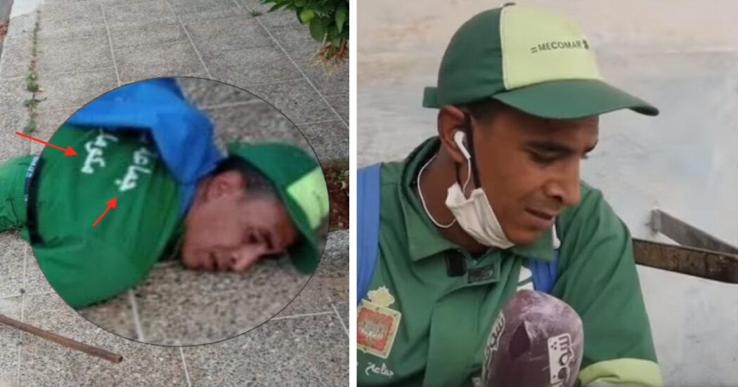 عامل النظافة في مدينة مكناس المغربية لم يتوف بل سقط أرضا بسبب مرضه