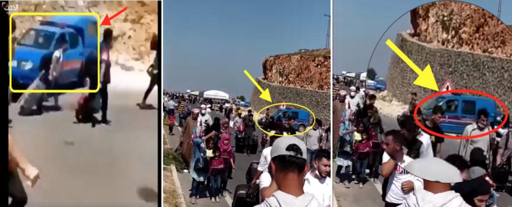 هذا المقطع التقط في الحدود التركية