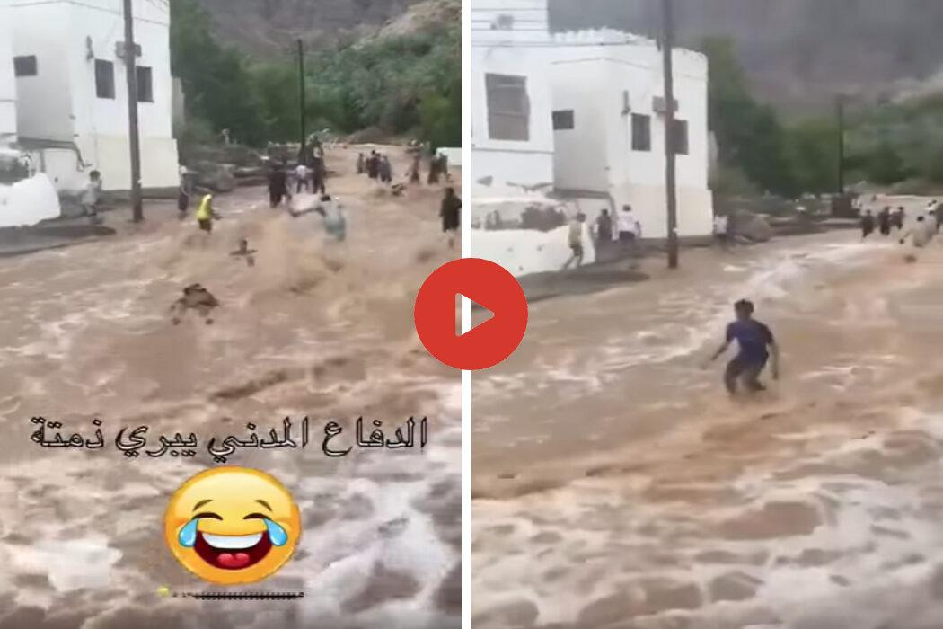 الفيديو المتداول لا علاقة له بإعصار شاهين الأخير