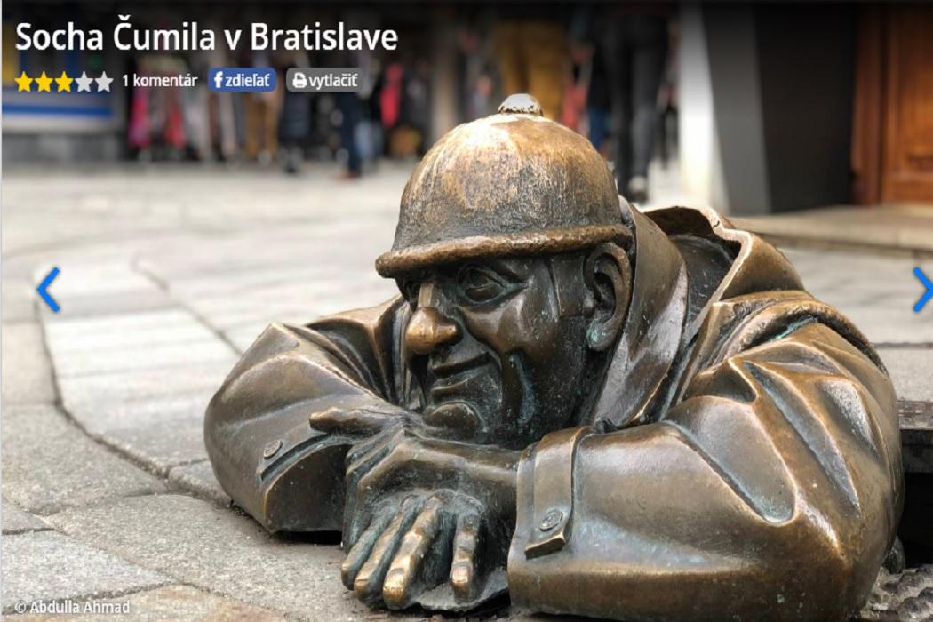 تمثال شوميل في سلوفاكيا وليس تمثال عامل نظافة فتبينوا